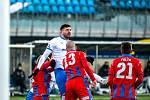 Zápas Fortuna ligy mezi FC Baník Ostrava a FC Viktoria Plzeň. 31. února 2021 v Ostravě.