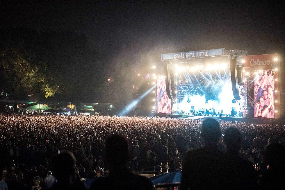 Hudební festival Colours of Ostrava, sobota 22. července 2017. Kapela Jamiroquai.