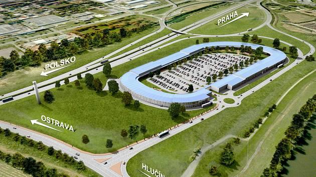 Vizualizace nového obchodního centra Outlet Arena Moravia.