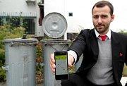 APLIKACE s názvem Zero Waste City na komunikátoru předvedl jeden z tvůrců Luka Oros.