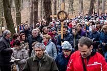 Pobožnost křížové cesty v Bělském lese, 1. března 2020 v Ostravě.