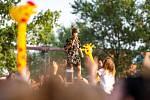Hudební festival Colours of Ostrava 2019 v Dolní oblasti Vítkovice, 20. července 2019 v Ostravě. Na snímku francouzská zpěvačka Zaz.