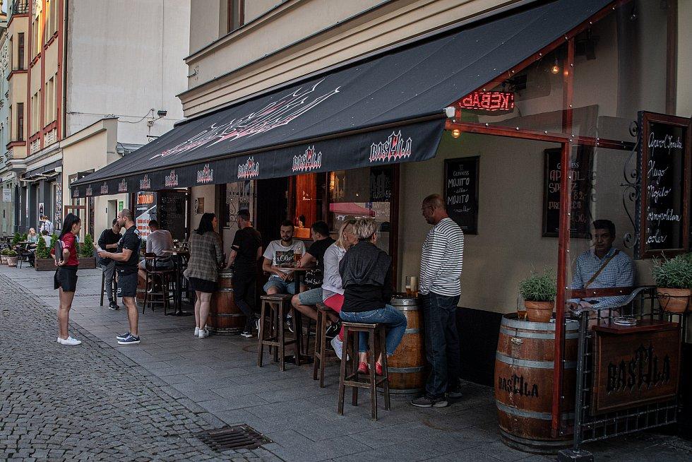 Stodolní ulice v Ostravě, 11. června 2021. Bastila.