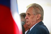 Návštěva prezidenta ČR v Moravskoslezském kraji. Ve středu 16. května 2018 se Miloš Zeman setkal s občany na Masarykově náměstí v Karviné.