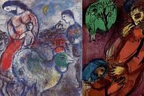 Ukázky tvorby Marca Chagalla a jeho ilustrace k Bibli.