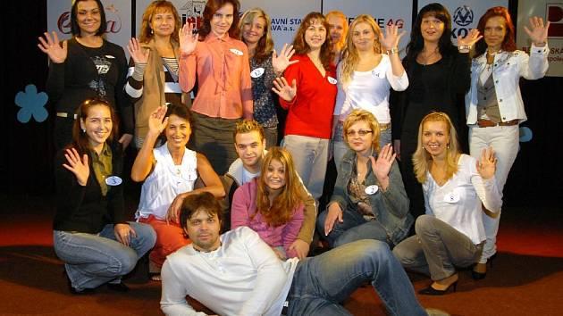 Účastníci soutěže Missis 2008 v Ostravě po zkoušce