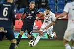 Utkání 16. kola první fotbalové ligy: FC Baník Ostrava - FC Slovácko, 24. listopadu 2018 v Ostravě. (vlevo) Petr Reinberk a Milan Baroš.