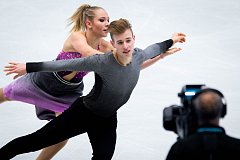 ISU Junior Grand Prix 2018 v krasobruslení, 28. zaří 2018 v Ostravě. Na snímku Natalie Taschlerova a Filip Taschler.