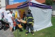 Prezentace hasičského sboru na Dni policie v Ostravě.