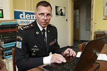 Ředitel moravskoslezské policie Tomáš Kužel v ostravské redakci Deníku.