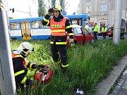 Dopravní nehoda v centru Ostravy.