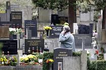 Památka zesnulých, ústřední hřbitov ve Slezské Ostravě.