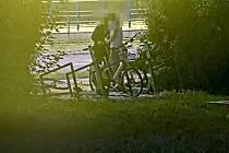 Krádež sedla sdíleného kola, Ostrava, červenec 2021.