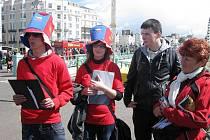 Žáci Střední školy hotelnictví, gastronomie a služeb v Šilheřovicích v Londýně.