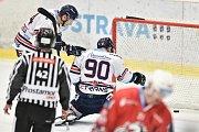 Utkání 14. kola hokejové extraligy: HC Vítkovice Ridera - HC Dynamo Pardubice, 28. října 2018 v Ostravě. Na snímku (střed) Jakub Lev.