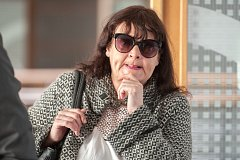 Bývalá soudkyně Věra Skařupová (54 let) u okresního soudu v Ostravě.