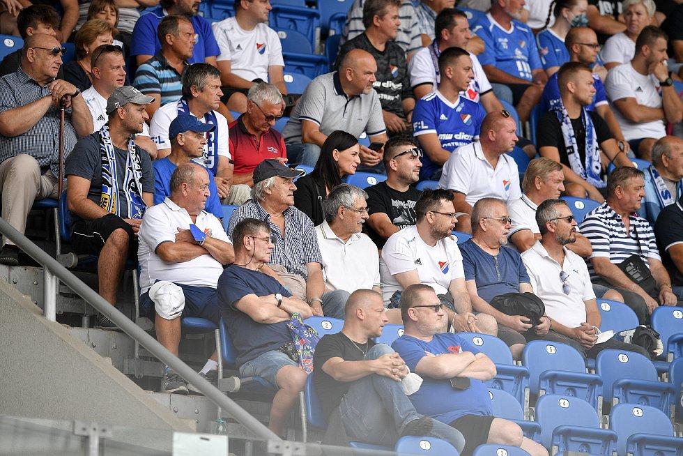 Utkání 2. kola první fotbalové ligy: Baník Ostrava - Fastav Zlín, 1. srpna 2021 v Ostravě. Fanoušci Baníku.