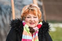 Věra Špinarová při focení pro Deník ze dne 20. prosince 2016.