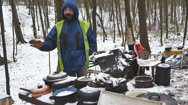 Lidé bez domova v Ostravě.