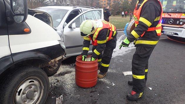 Dopravní nehoda vPustkovci.