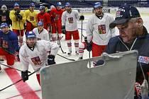 Česká hokejová reprezentace už pod taktovkou kouče Vladimíra Vůjtka v Ostravě ladí formu na ruský tým.