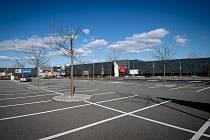 Avion Shopping Park v době koronavirové krize. Ilustrační foto.