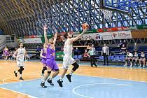 Basketbalisté NH Ostrava prohráli v utkání 2. kola nadstavbové skupiny A2 s Ústím nad Labem 62:88 (3. března 2021).