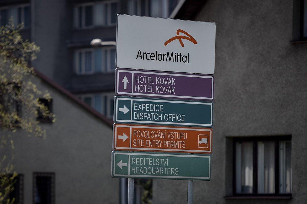 Ostravský závod ArcelorMittal, 9. duben 2017.