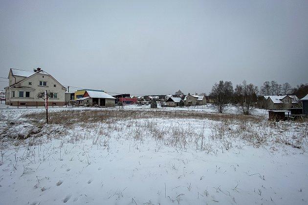 Pozemek vostravské části Bartovice kde se bude stavět nový místní obchod, 13.ledna 2021vOstravě.