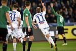Utkání 22. kola první fotbalové ligy: Baník Ostrava - FK Jablonec, 24. února 2020 v Ostravě. Střed radost Nemanja Kuzmanovič z Ostravy.