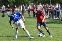 Fotbal, MOL CUP: Hlubina - Dolní Benešov, 14. sprna 2019 v Ostravě.