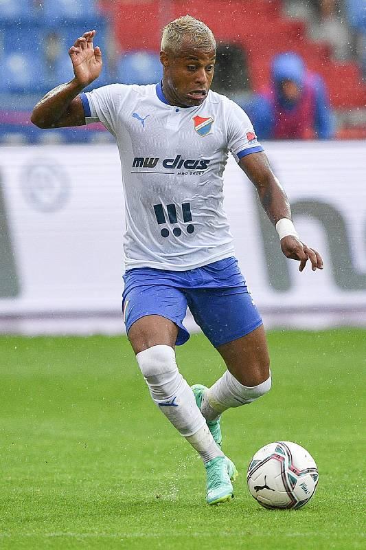 Utkání 2. kola první fotbalové ligy: Baník Ostrava - Fastav Zlín, 1. srpna 2021 v Ostravě. Dyjan Carlos de Azevedo z Ostravy.