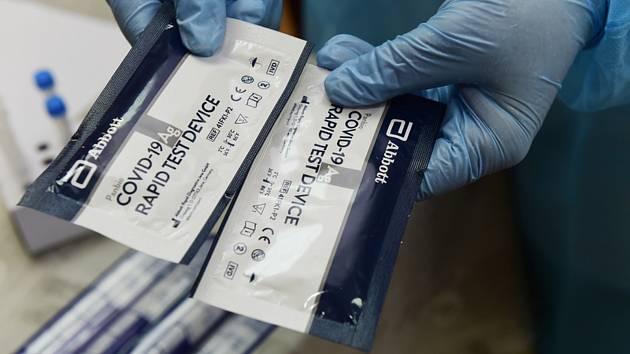 Antigenní testy na Covid-19. Ilustrační foto.