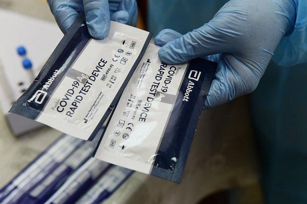 Antigenní testy na Covid-19.Ilustrační foto.