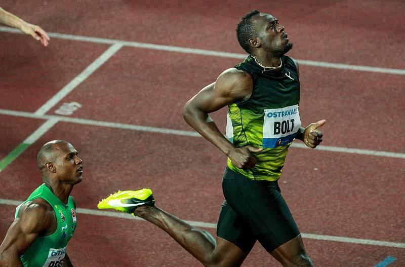 56. ročník atletického mítinku Zlatá tretra, který se konal 28. června 2017 v Ostravě. Na snímku Usain Bolt.