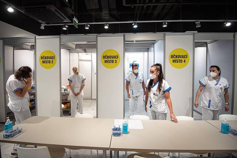 V OC Forum Nová Karolina se otevřelo očkovací místo bez nutnosti předchozí registrace, 21. července 2021 v Ostravě.