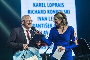 Vyhlášení ankety za rok 2018. Do Síně slávy byl uveden bývalý vynikající fotbalista a trenér Verner Lička.