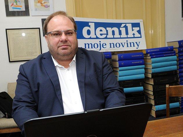 Hejtman Moravskoslezského kraje Miroslav Novák.