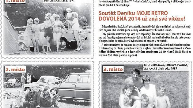 Výherci soutěže Deníku Moje retro dovolená.