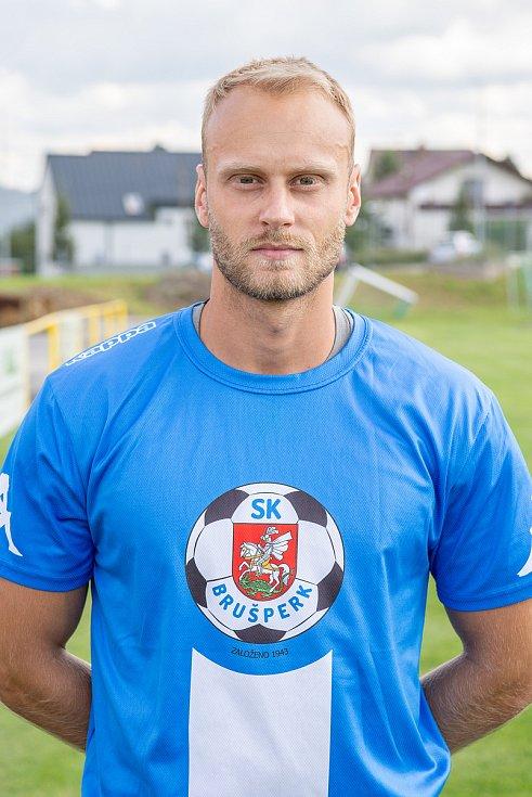 Fotbalový klub - Spolek SK Brušperk, 26. srpna 2020 v Brušperku. Jakub Bogdan (záložník)