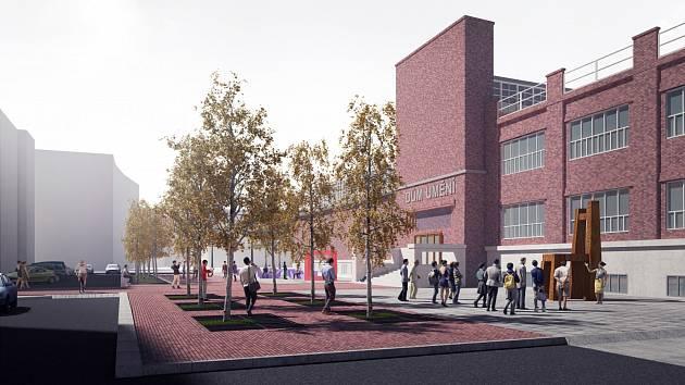 DŮM UMĚNÍ získá důstojnější okolí. První část projektu bude hotová v červnu, poté se bude čekat na parkovací dům, který umožní další proměnu místa.