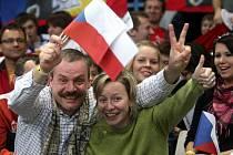 Ilustrační foto z hlediště světového florbalového šampionátu v Ostravě