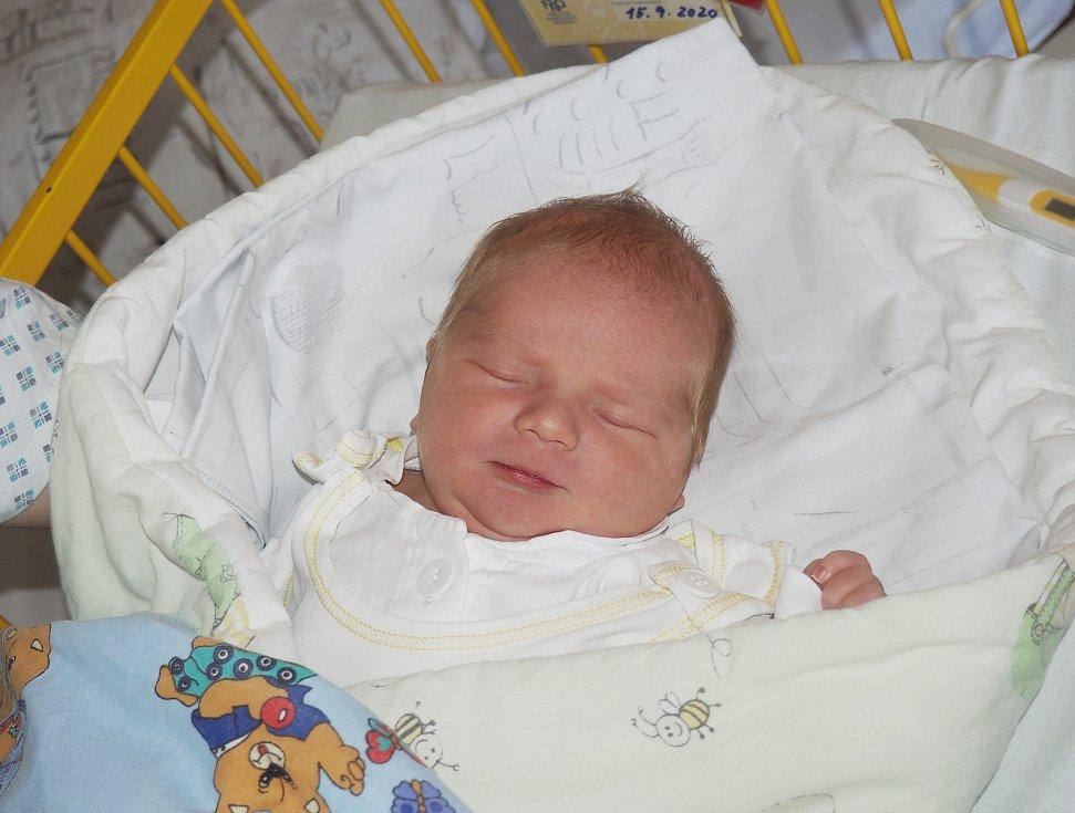 Dominik Drajna se narodila 15. 9. 2020, vážila 4000 g. Bydliště Ostrava. Fakultní nemocnice Ostrava. Foto: J. Gojová
