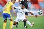 Utkání 3. kola první fotbalové ligy: FC Baník Ostrava - FK Teplice, 26. července 2019 v Ostravě. Na snímku (zleva) Patrik Žitný a Dyjan Carlos De Azevedo.