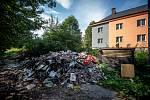 Sociálně vyloucená lokalita Zárubek, září 2019 v Ostravě.