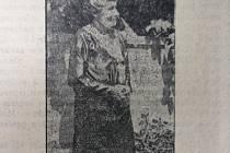 Zpráva v Moravskoslezském deníku informující o tom, že na koncertu 25. 5. 1932 v Domě umění bude přítomna dcera skladatele B. Smetany, Z. Heydušková-Smetanová.