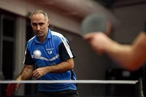 Hráč stolního tenisu Petr Korbel.