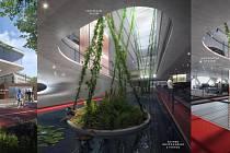 Vizualizace vítězného návrhu na nový parkovací dům, který vyroste v blízkosti Domu kultury města Ostravy.