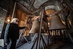 Zvony v Katedrále Božského Spasitele, březen 2021 v Ostravě.