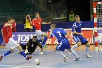 Z futsalového utkání kvalifikace na Euro mezi mužstvy Česka a Bosny a Hercegoviny